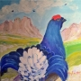 gallo-forcello-acrilico-30x30