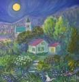 luna-piena-sul-villaggio-orlando-a-campo-tizzoro-40x40-acrilico-su-tela